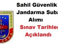 Sahil Güvenlik ve Jandarma Subay Alımı Sınav Tarihleri Açıklandı