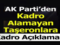 Kadro Alamayan 84 Bin Taşeron için Ak Parti'den açıklama