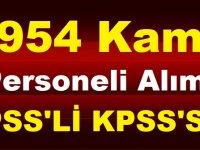 KPSS'siz ya da 60 KPSS ile 8954 Kamu Personeli Alımı