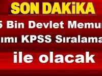 5000 Devlet Memuru Alımı KPSS ile Yapılacak