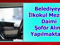 Mihalgazi Belediyesi otomobil şoförü bir kamyon şoförü ve bir tır şoförü alıyor