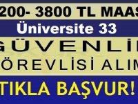 Recep Tayyip Erdoğan Üniversitesi 33 Özel Güvenlik Görevlisi Alıyor