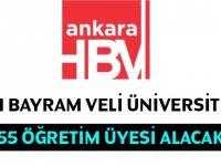 Hacı Bayram Veli Üniversitesi 55 Akademik Personel alıyor