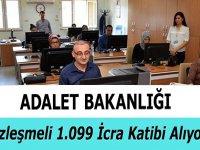 Adalet Bakanlığı 1.099 kişi sözleşmeli icra katibi Alıyor