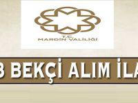 Mardin Valiliği ve Kaymakamlıklarına 653 Bekçi Alım İlanı