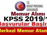 KPSS 2019/1 Merkezi Memur Alım Takvimi- 1354 Devlet Memuru Alımı