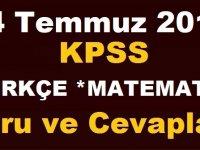 2019 KPSS Türkçe Soru ve Cevapları