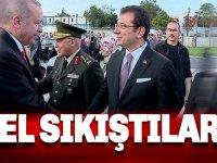 Flaş İmamoğlu ve Erdoğan, el sıkıştılar