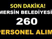 Mersin Büyükşehir Belediyesi En Az ilkokul Mezunu 260 İşçi Alıyor
