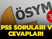 ÖSYM 2019 KPSS Sınav Soru ve Cevapları Erişime Açtı