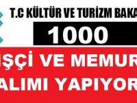 Kültür Bakanlığı 1000 Kamu İşçisi ve Kamu Personeli Alımı Yapacak