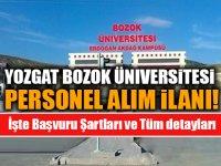 Yozgat Bozok Üniversitesi Personel Alım İlanı