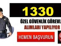 İŞKUR 1330 Silahlı-Silahsız Güvenlik Görevlisi Personel Alımı!
