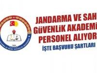 Jandarma ve Sahil Güvenlik Akademisi Personel Alıyor