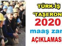 Türk -İş'ten Taşeron 2020 Maaş Açıklaması