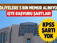 Adalet Bakanlığı Adliyeler bünyesinde 5 bin kamu personeli alımı yapacak