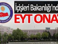 İçişleri Bakanlığı'ndan EYT onayı