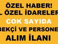 Siirt İl Özel İdaresi ve Zonguldak İl Özel İdaresi Bekçi ve kamu personeli alımı