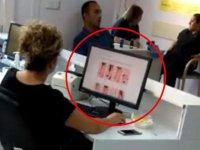 Bartın Devlet Hastanesi'nde skandal görüntüler! Hastalar sıra beklerken görevli bakın ne yaptı