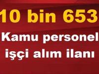 68 Kamu Belediye Kurumu 10 bin 653 Kamu personel işçi alım ilanı