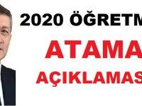 MEB Bakanı Selçuk 2020 Öğretmen Atama Açıklaması