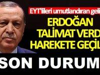 Başkan Erdoğan EYT talimatının ardından Emeklilikte Yaşa Takılanlar için son durum