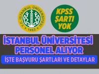 İstanbul Üniversitesi Personel Memur Alımları 2020
