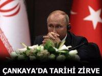 Rusya devlet başkanı Vladimir Putin, üçlü zirvede Kur'an'dan ayet okudu