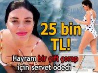 Fanatik bir hayranı, şarkıcı Ebru Polat'ın bir çift çorabına sahip olabilmek için 25 bin TL teklif etti