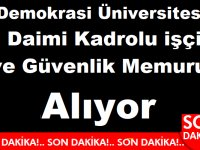 İzmir Demokrasi Üniversitesi Rektörlüğü Daimi Kadrolu 12 Memur ve işçi alım ilanı yayınladı