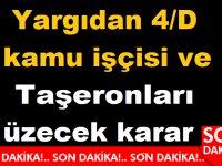 Yargıdan 4/D kamu işçisi ve Taşeronları üzecek karar