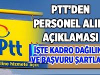 PTT Personel Alımına Çıkılması Hakkında Açıklama 26 Mayıs 2020