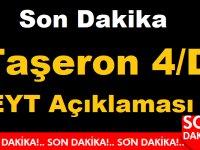 Son Dakika Taşeron 4/D , EYT Açıklaması