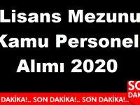 Lisans Mezunu Kamu Personeli Alımı 2020