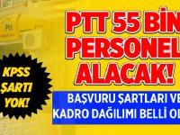 PTT KPSS şartsız personel alımı 2020