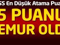 En Düşük KPSS Puanla Atanan Bölümler 2020