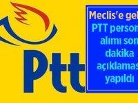 PTT 2020 personel ve memur alımları Meclis'e geldi