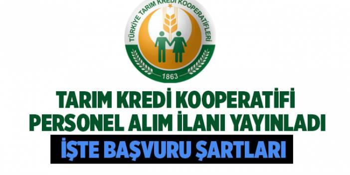 Tarım Kredi Kooperatifi Kamu Personeli Alımı 2020