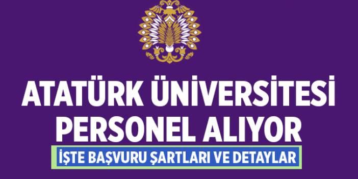 Atatürk Üniversitesi Akademik Personel Alımları 2020
