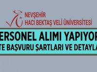 Nevşehir Hacı Bektaş Veli Üniversitesi Personel Alıyor