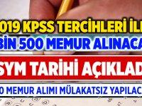 Aralık'ta Mülakatsız KPSS Tercihleri ile 19 bin 500 Memur Alınacak