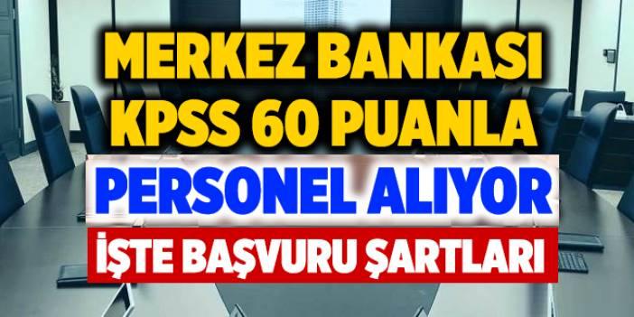 Merkez Bankası Daimi Kadrolu 20 teknisyen alacak