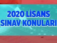 2020 KPSS Lisans Konuları Detayları