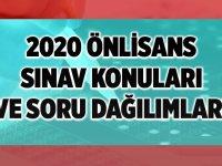 2020 KPSS Önlisans Soru Dağılımı