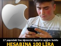 Bursa'da yaşayan lise öğrencisi Oğuz Akçay, Iphone marka cep telefonunda AÇIK BULDU
