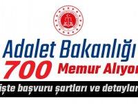 Adalet Bakanlığı 700 Devlet Memuru Alım ilanı Başvuruları Bitiyor