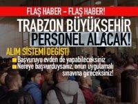 Trabzon Büyükşehir Belediyesi 2020 Personel alacak!