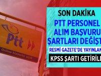 PTT 2020 Personel Alımı Başvuru Şartları Değiştirildi!