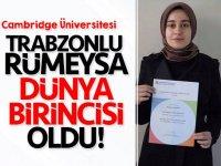 Trabzonlu Rümeysa'dan tarihi başarı... Dünya birincisi oldu!