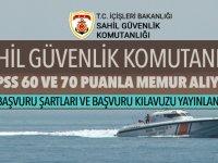 Sahil Güvenlik KPSS 60 Puanla Memur Alıyor